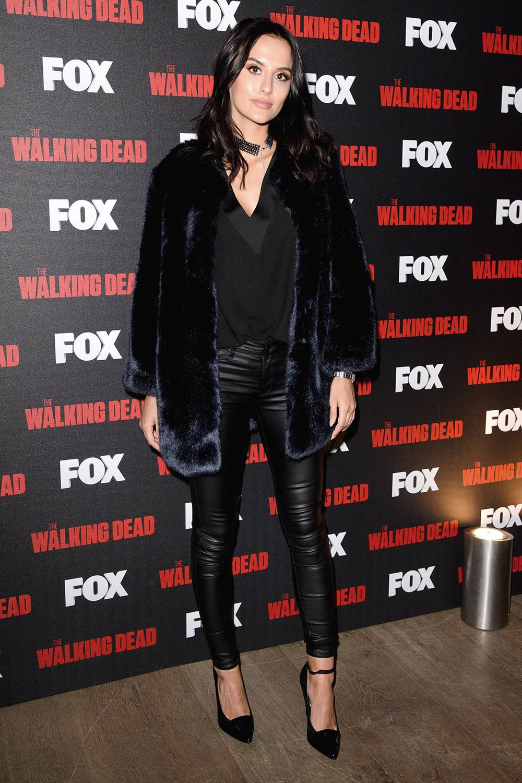 Lucy Watson black leather pants