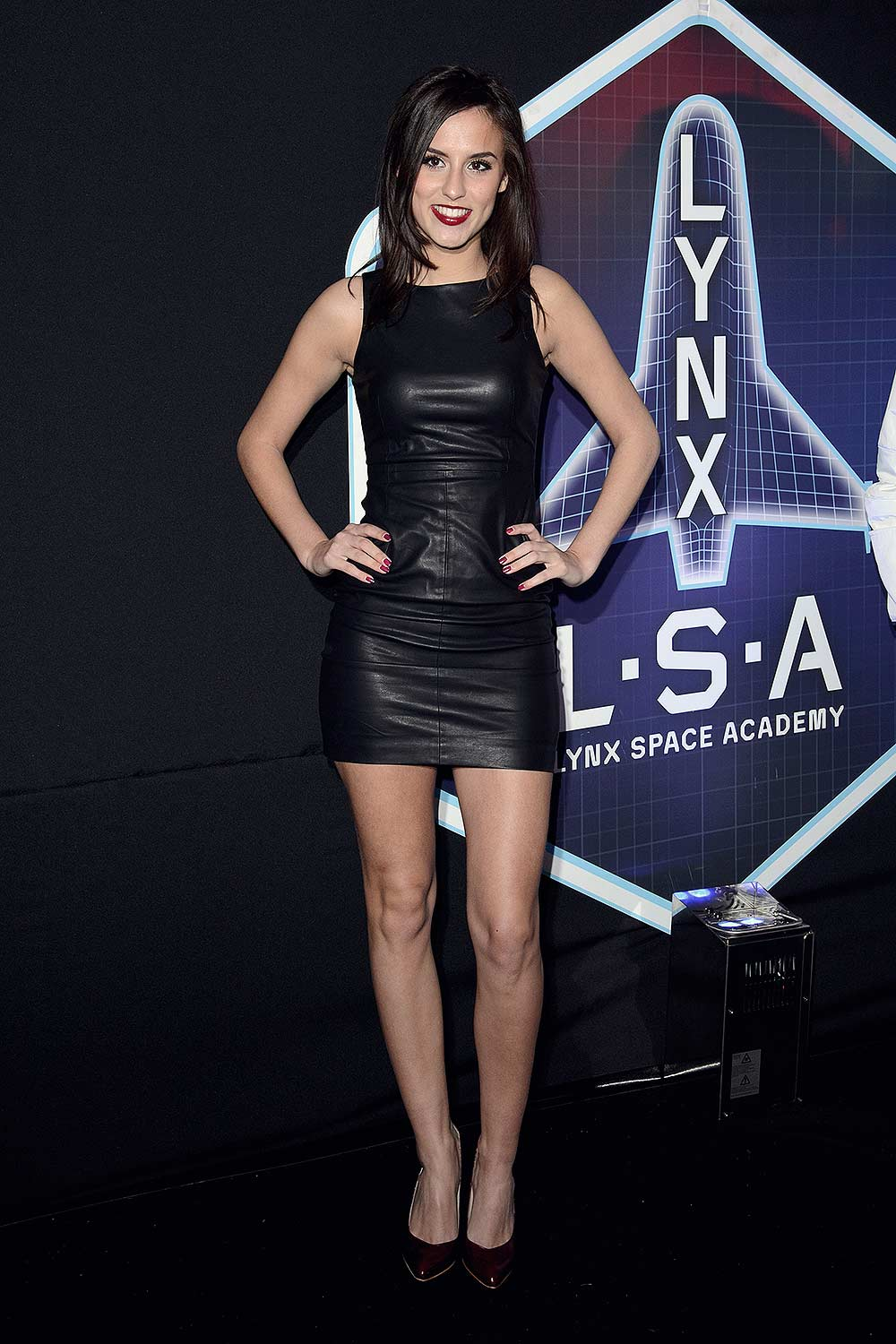 Lucy Watson Attends The Lynx L S A Launch Event Leather