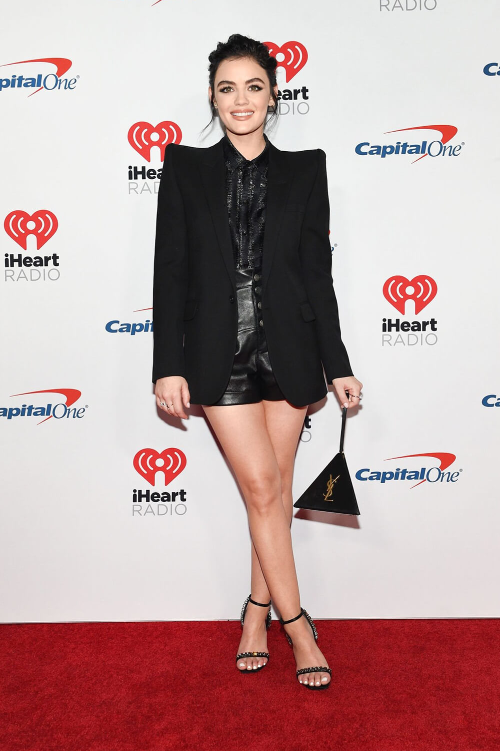 Lucy Hale attends iHeartRadio Music Festival