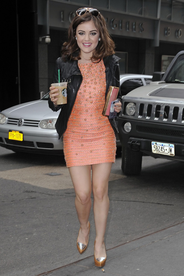 Lucy Hale outside ABC's studios in  NYC