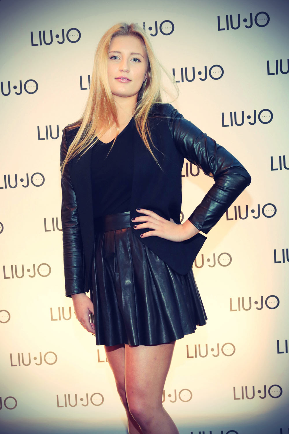 Luna Schweiger Liu Jo Store Opening Leather Celebrities