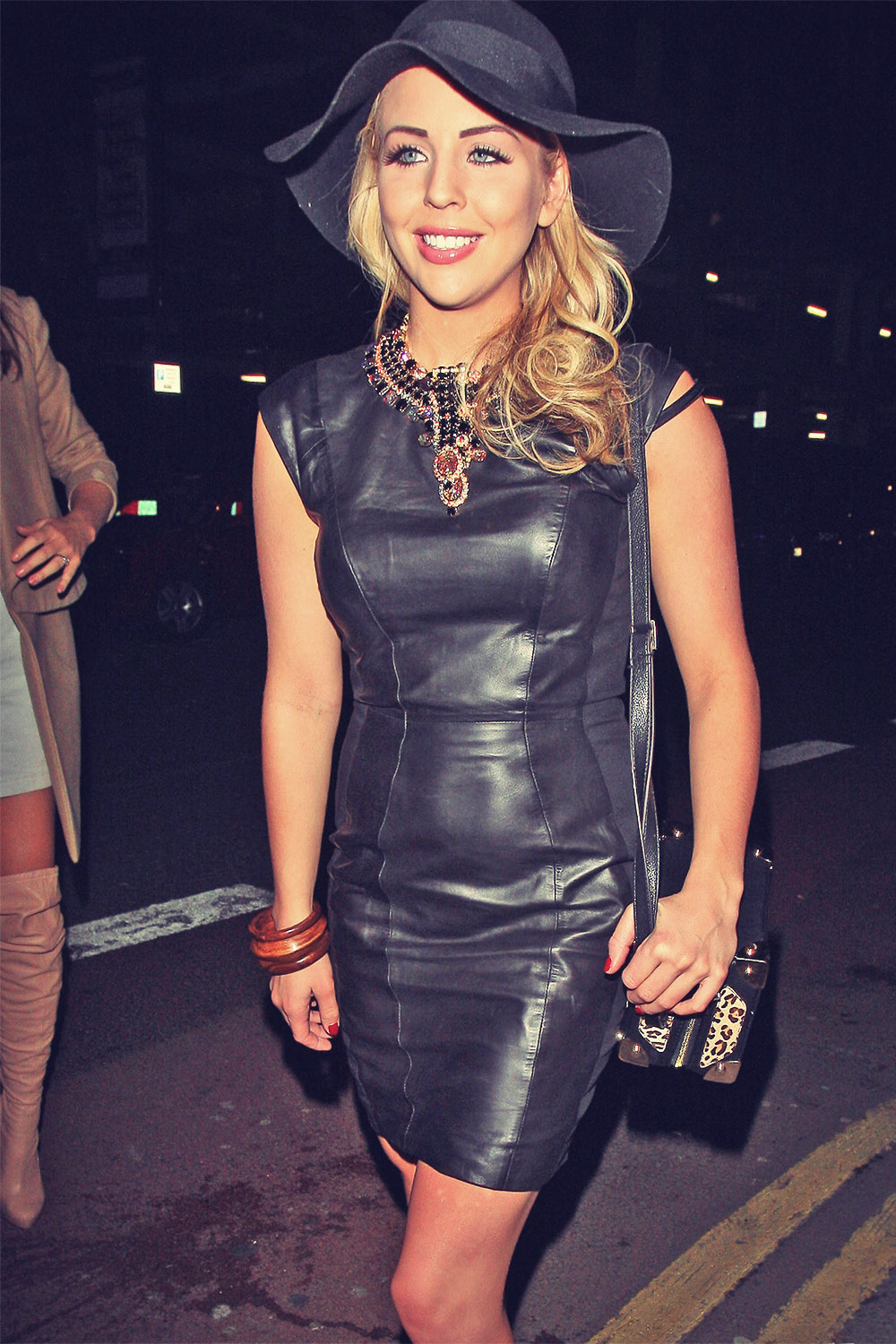 Lydia Bright Leaving the Rihanna for River Island fashion show