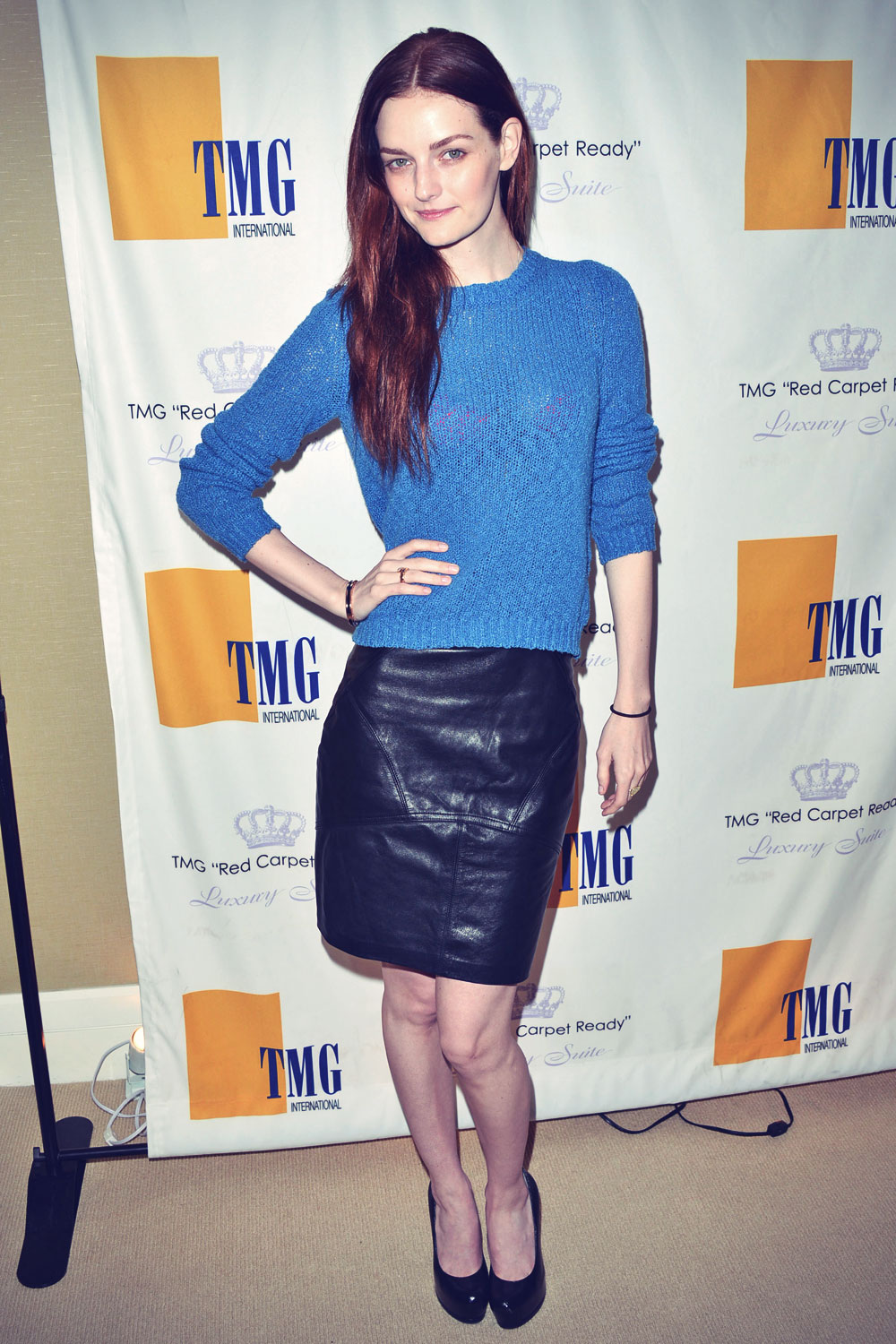 Lydia Hearst attends TMG International 2014