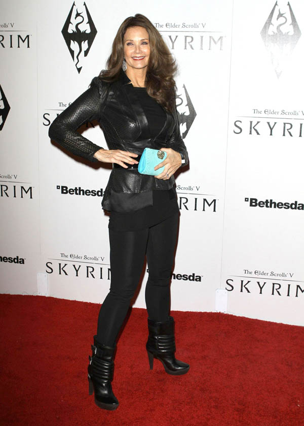 Lynda Carter at The Elder Scrolls V Skyrim Launch party