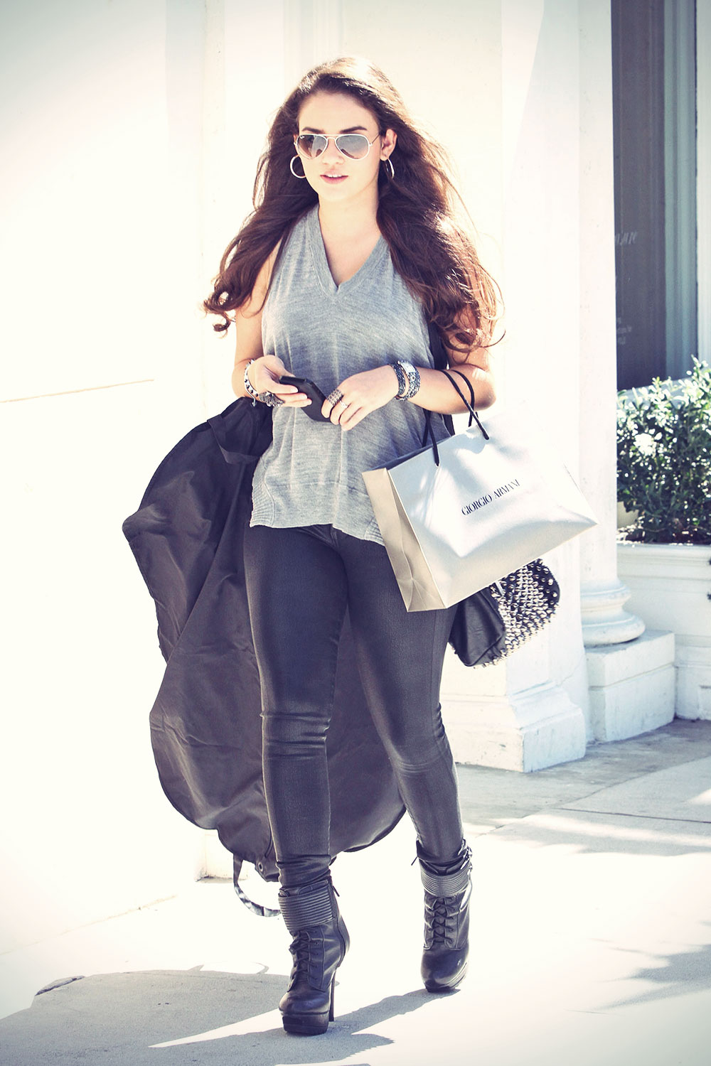 Madison Pettis out and about candids in Beverly Hills