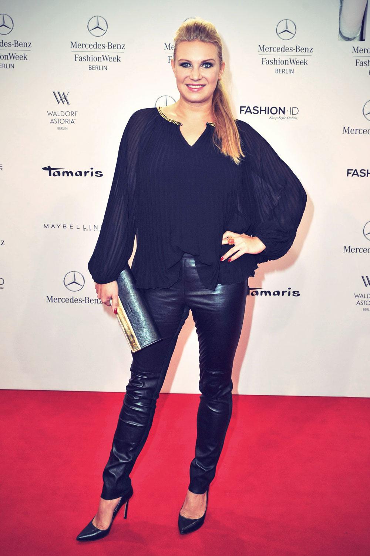 Magdalena Brzeska attends Mercedes-Benz Fashion Week