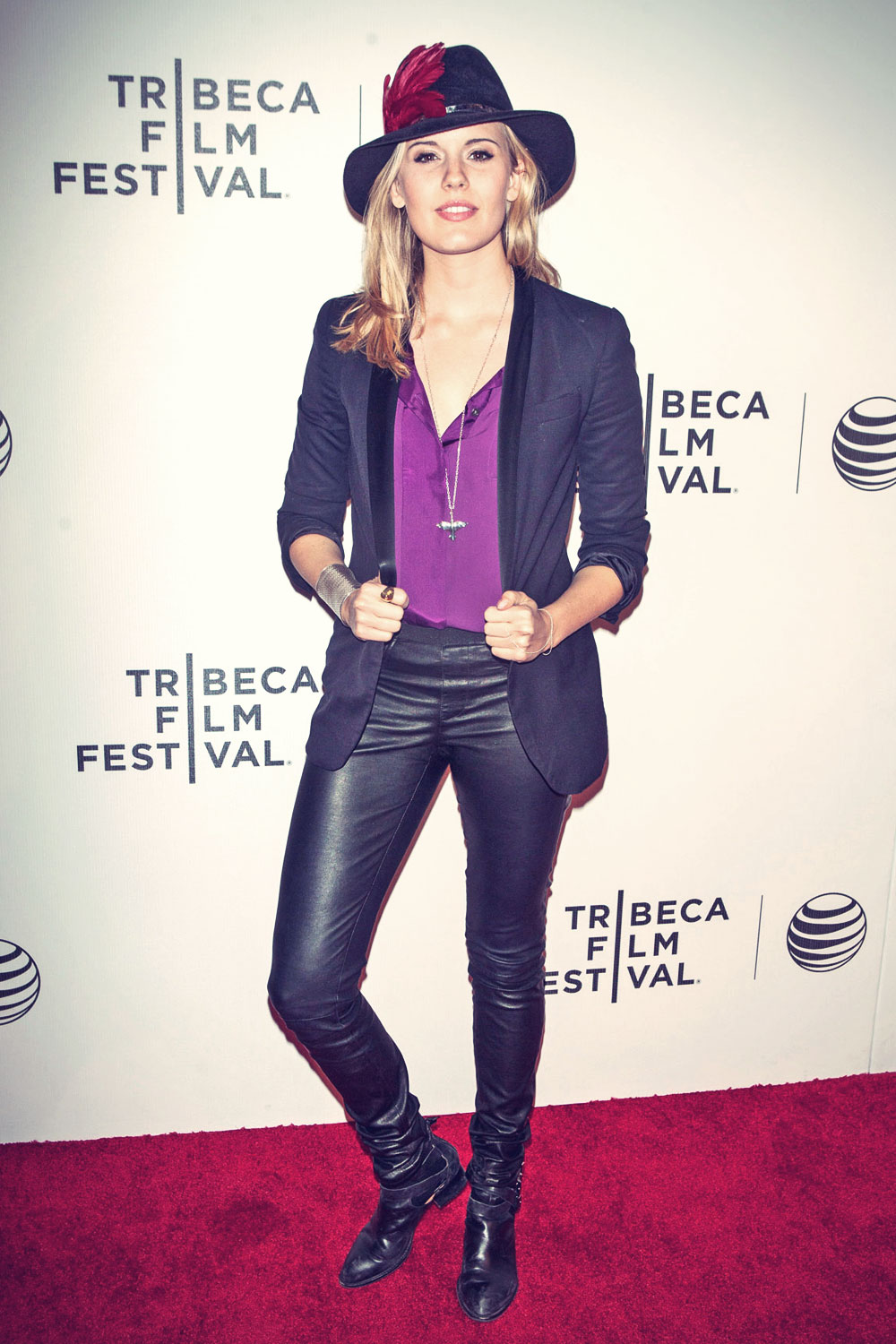 Maggie Grace attends Loitering With Intent Premiere
