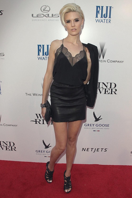 Maggie Grace attends Wind River premiere