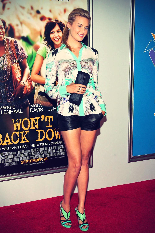 Maggie Grace at Won't Back Down premiere