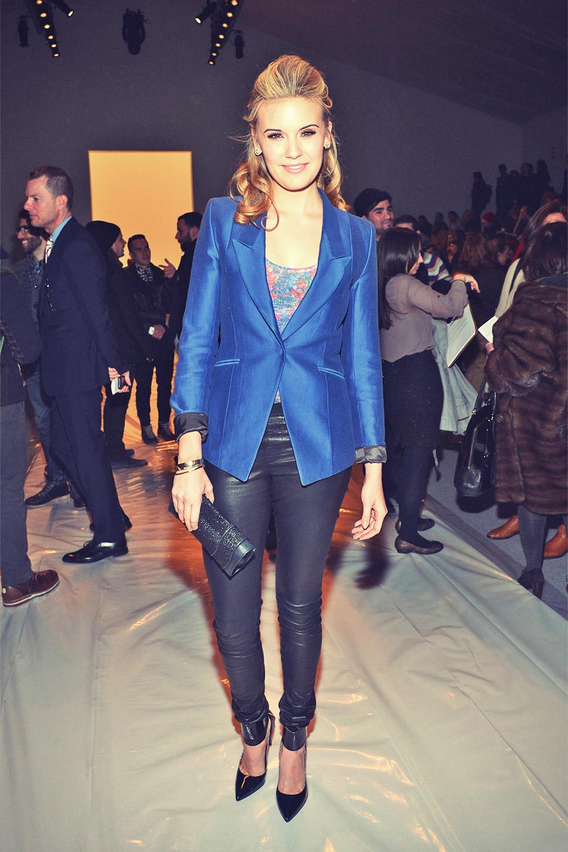 Maggie Grace attends Richard Chai Fall 2013 fashion show