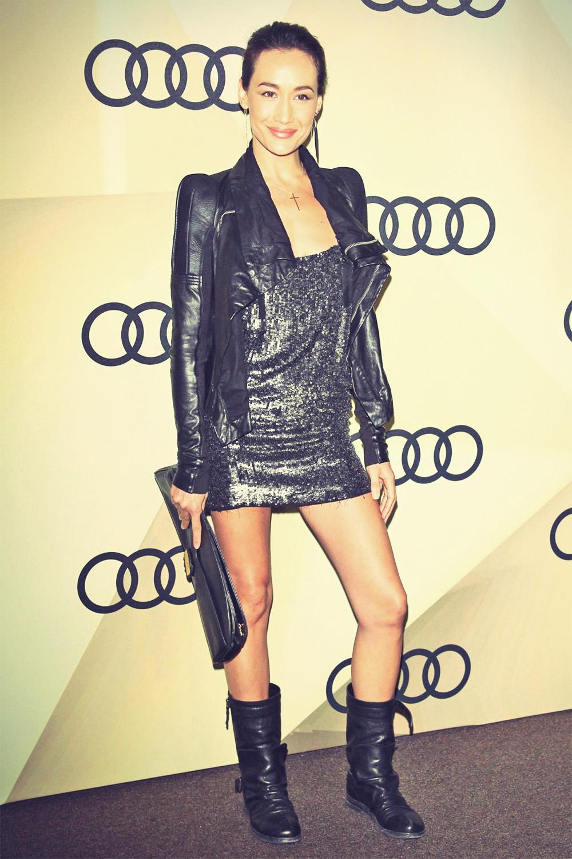 Maggie Q attends Audi Golden Globe 2013