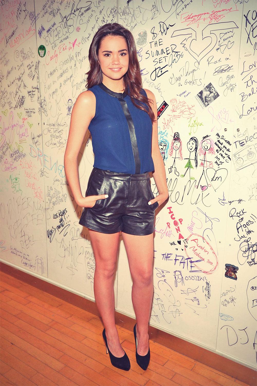 Maia Mitchell Sirius XM studio candids