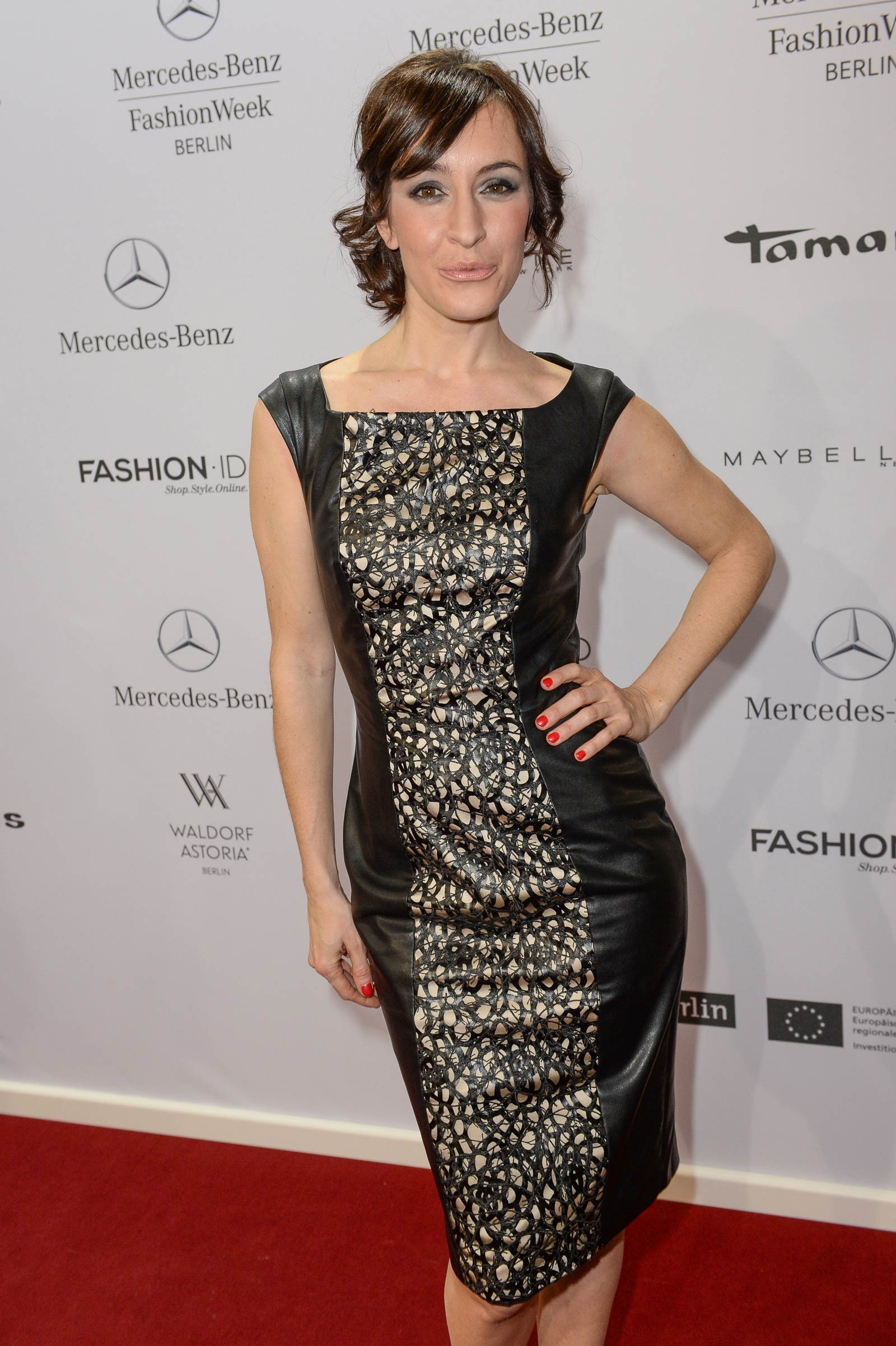 Maike von Bremen attends Merceses Benz Fashion Week