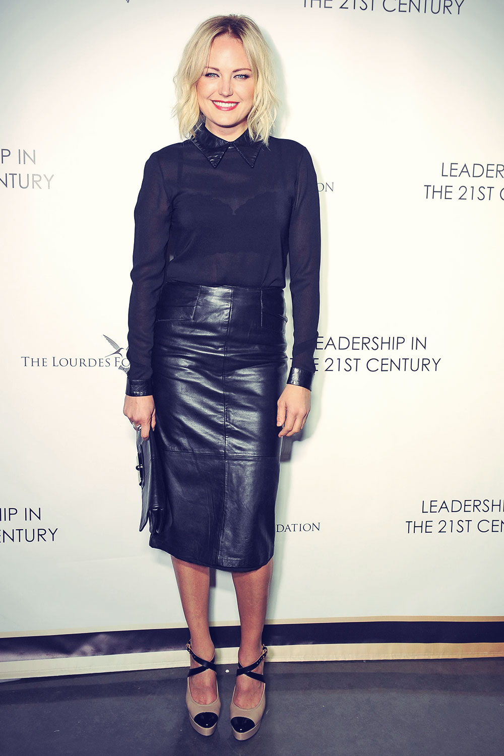 Malin Akerman Q&A With Ann Curry courtesy of the Lourdes Foundation Inglewood