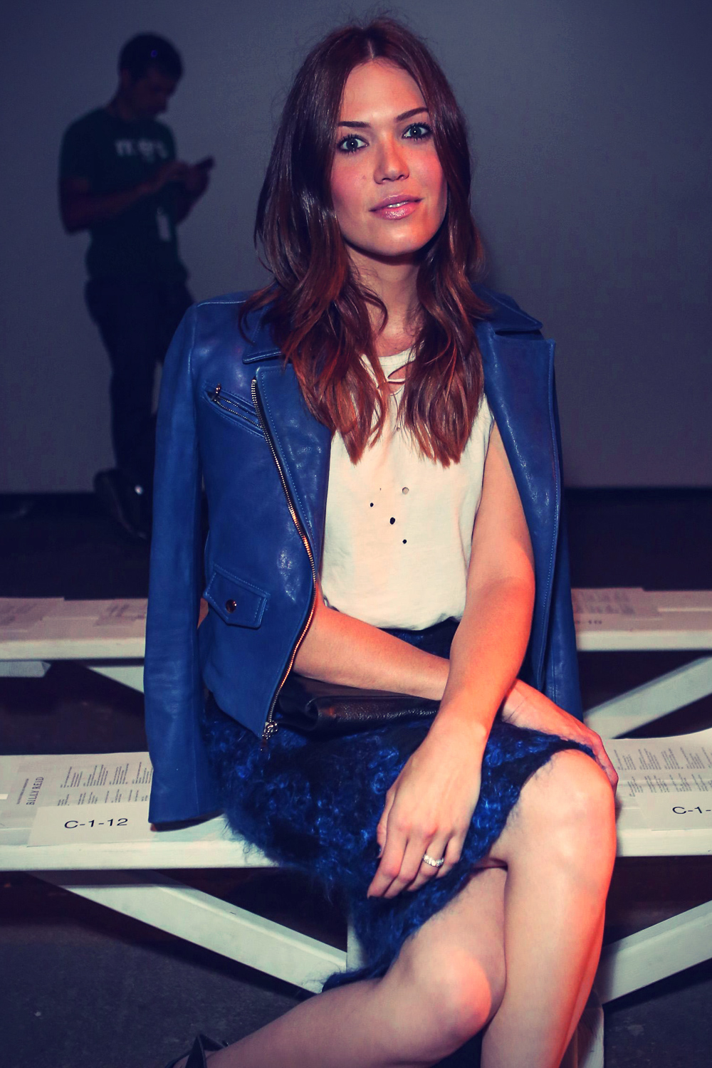Mandy Moore at Billy Reid Spring fashion show