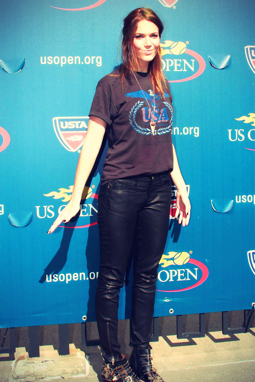 Mandy Moore at the 2012 U.S. Open