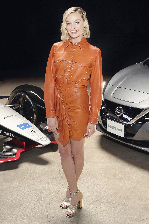 Margot Robbie attends Nissan Formula E Launch Tour