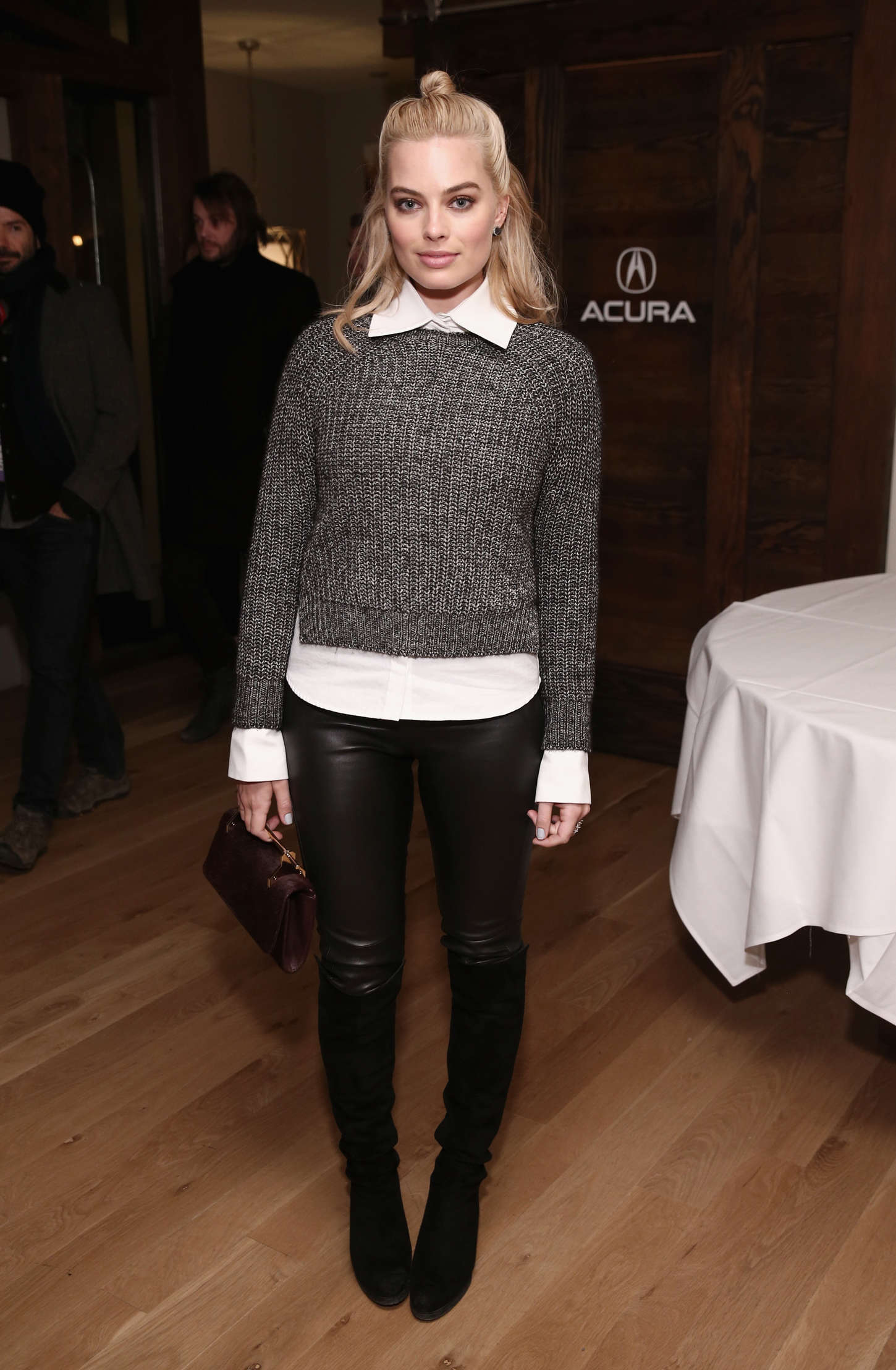 Margot Robbie Attends The Z For Zachariah Dinner Leather