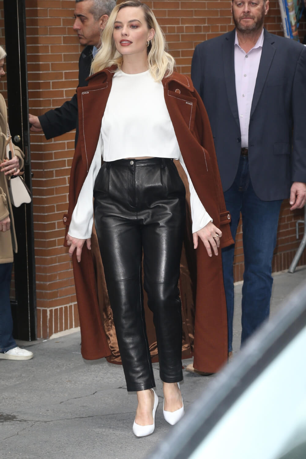 Margot Robbie doing promo in NYC