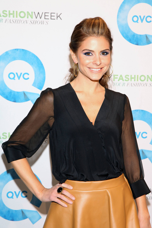 Maria Menounos at QVC's New York Fashion Week Runway Show