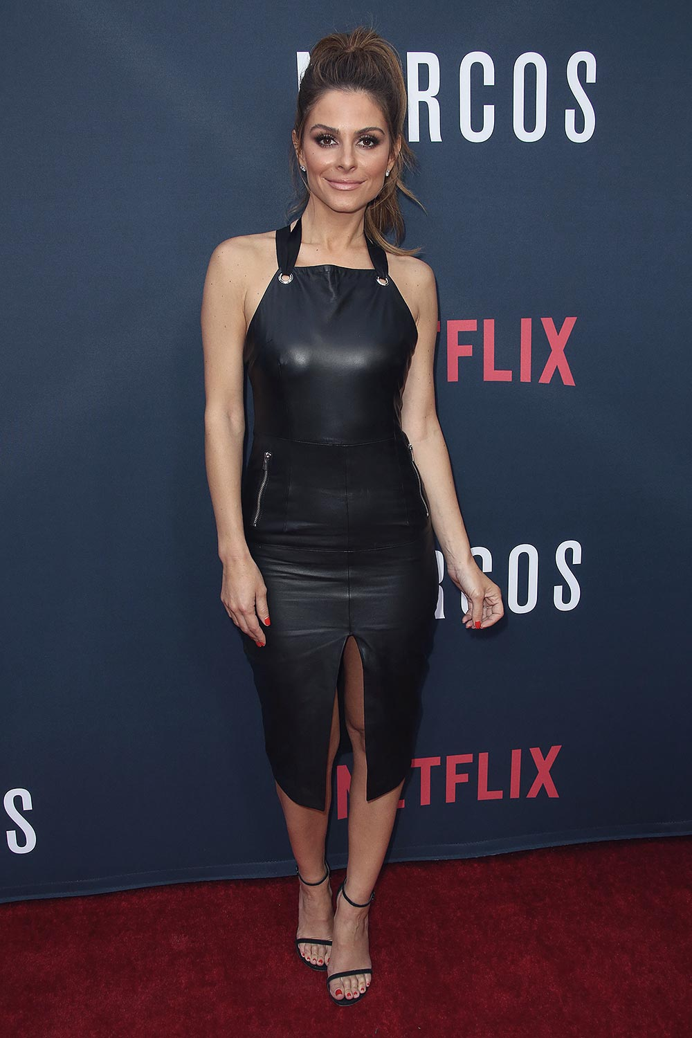 Maria Menounos attends the Season 2 premiere of Netflix's Narcos