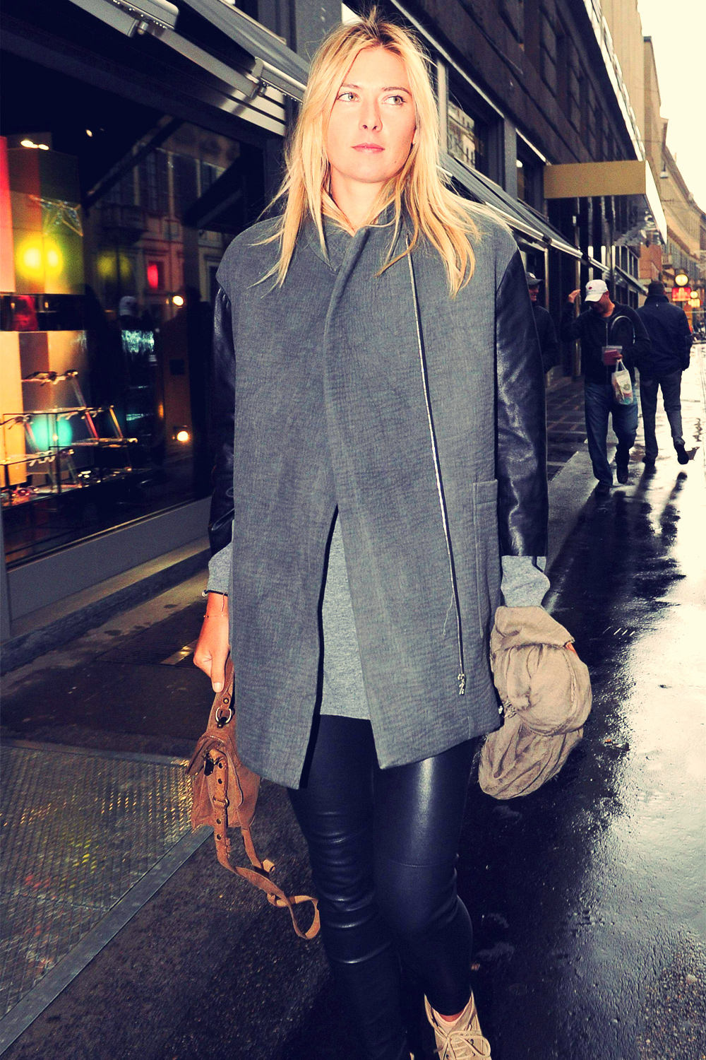 Maria Sharapova shopping at Armani Boutique