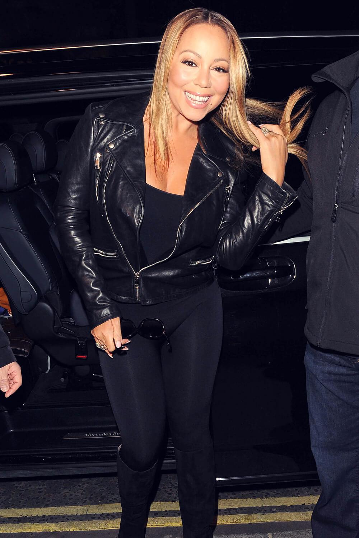 Mariah Carey out in London