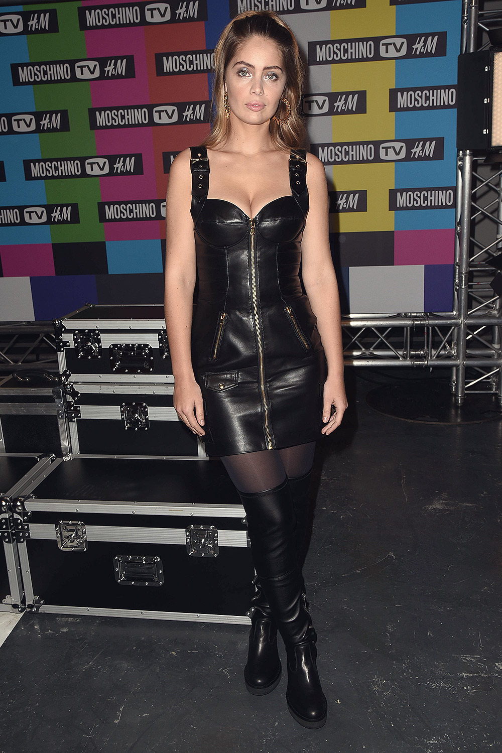Marie Ange Casta attends MOSCHINO [tv] H&M Launch Party