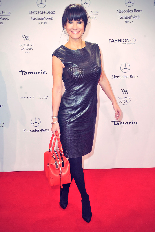 Mariella Ahrens attends Mercedes-Benz Fashion Week