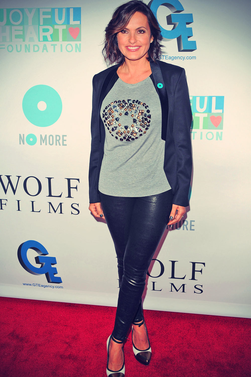 Mariska Hargitay attends the JoyRocks event celebrating the No More PSA Launch