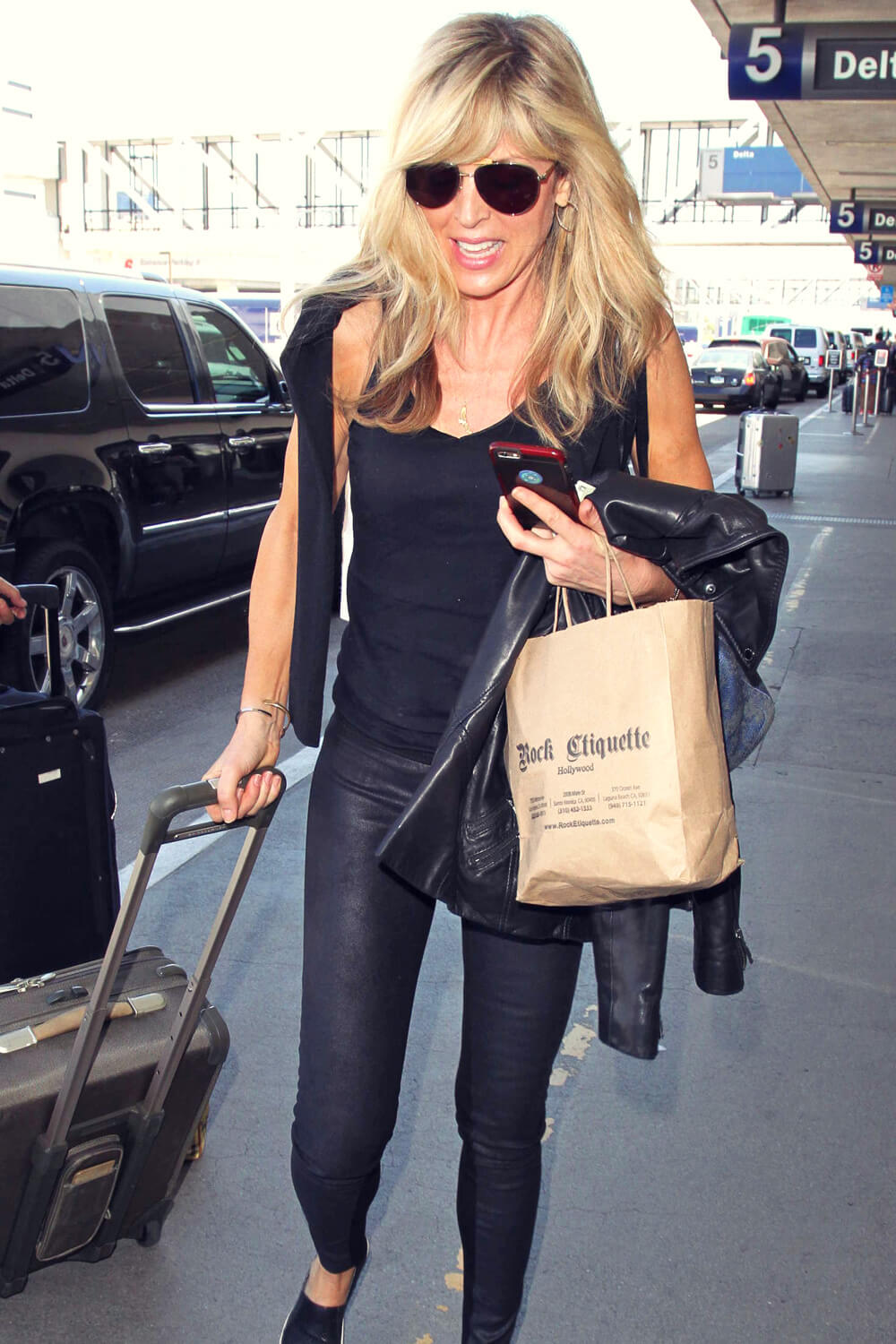 Marla Maples Arrives At Lax Leather Celebrities
