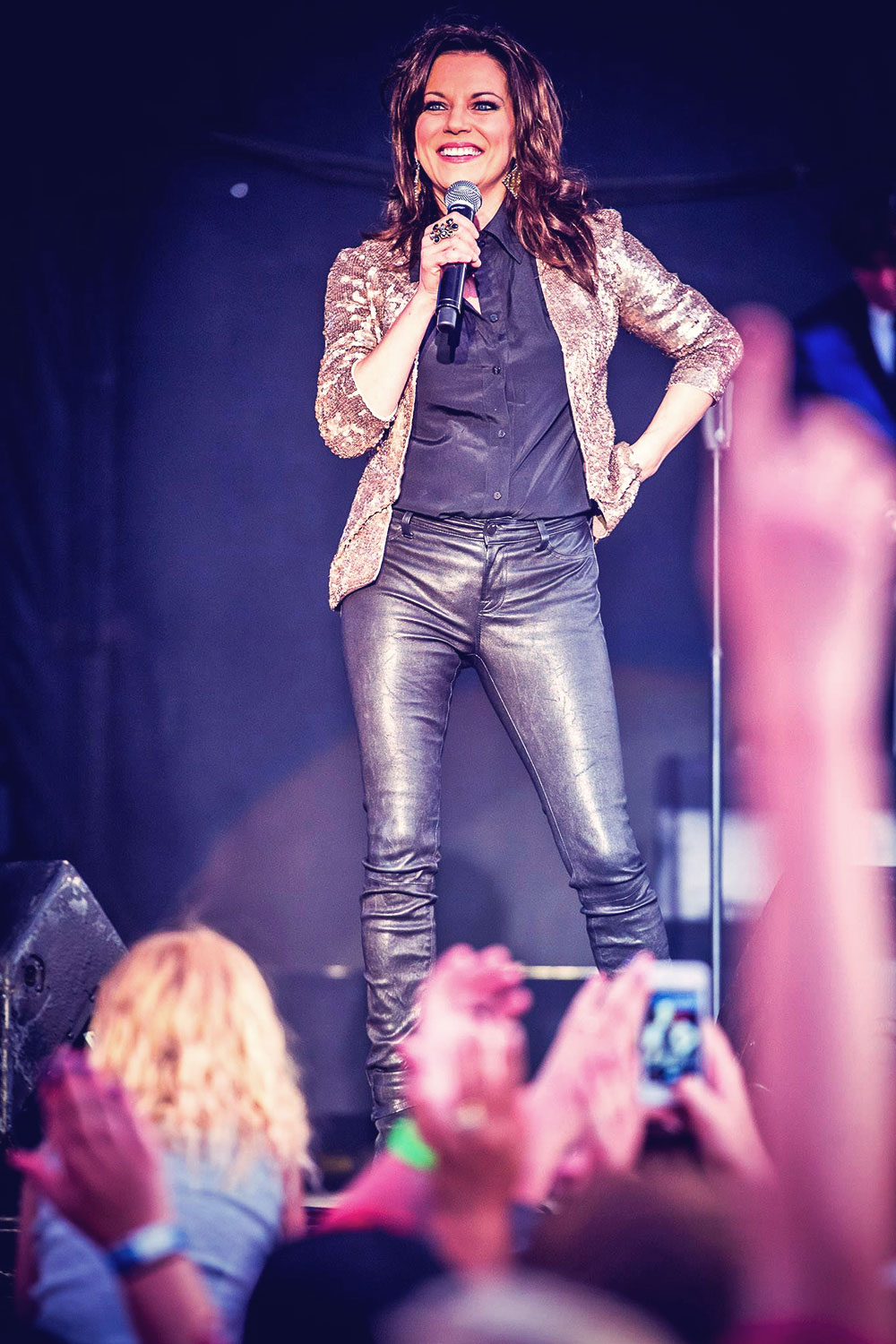 Martina McBride performs at Hawkfest 2014