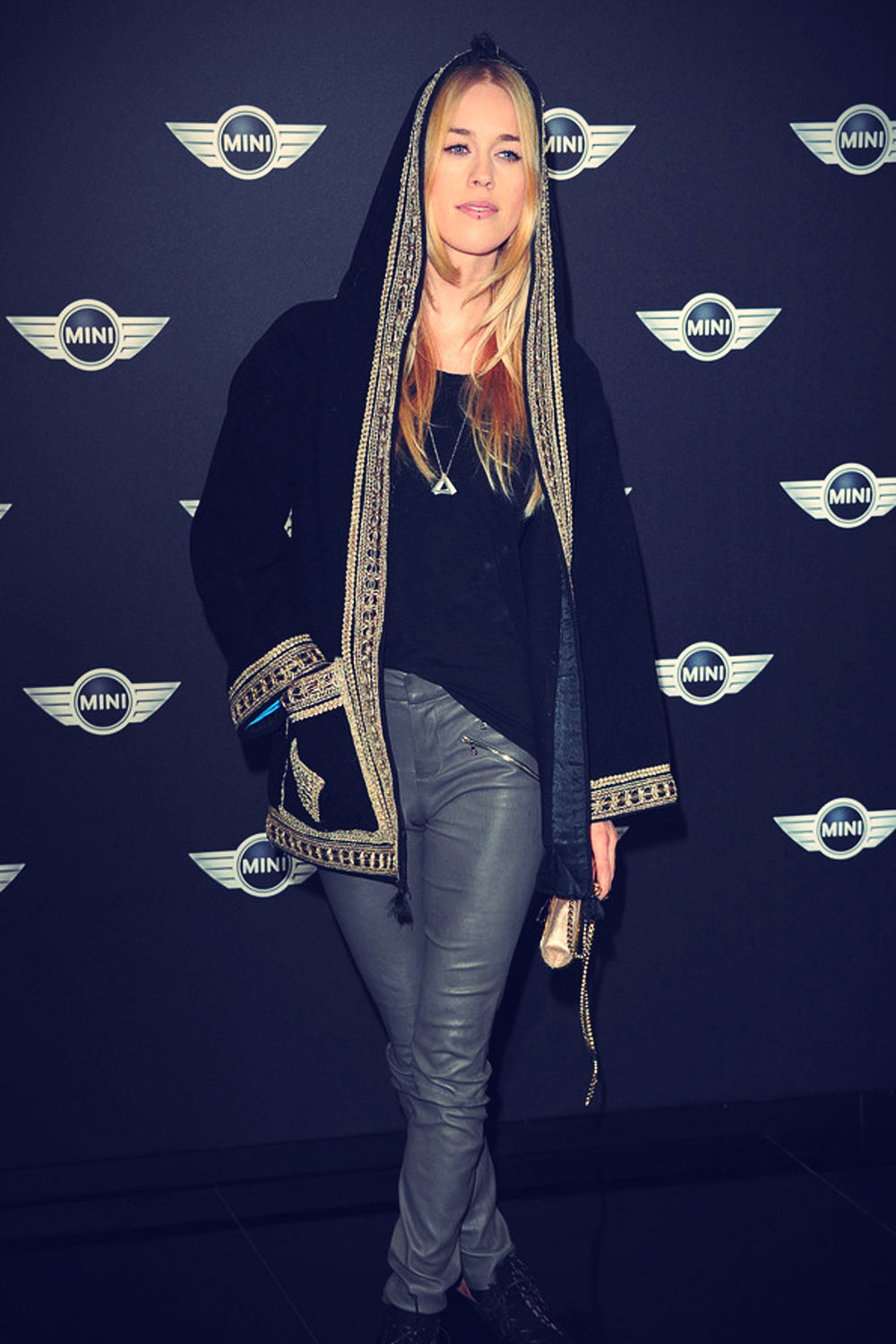 Mary Charteris arrives for the World Premiere Of The New MINI