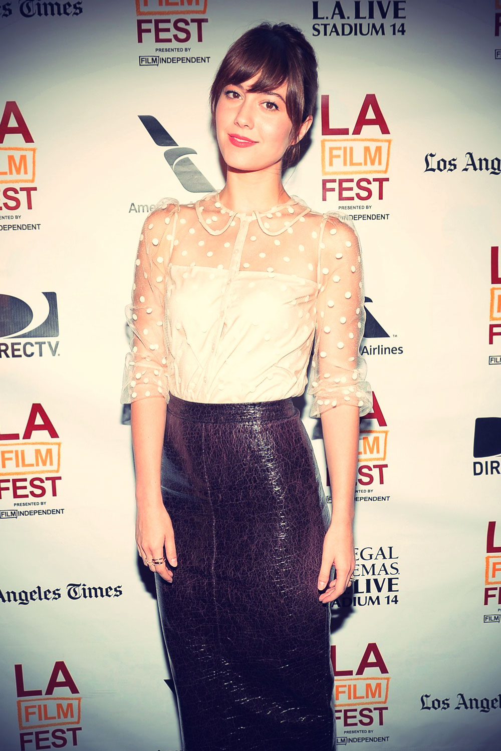 Mary Elizabeth Winstead at the 2013 Los Angeles Film Festival awards