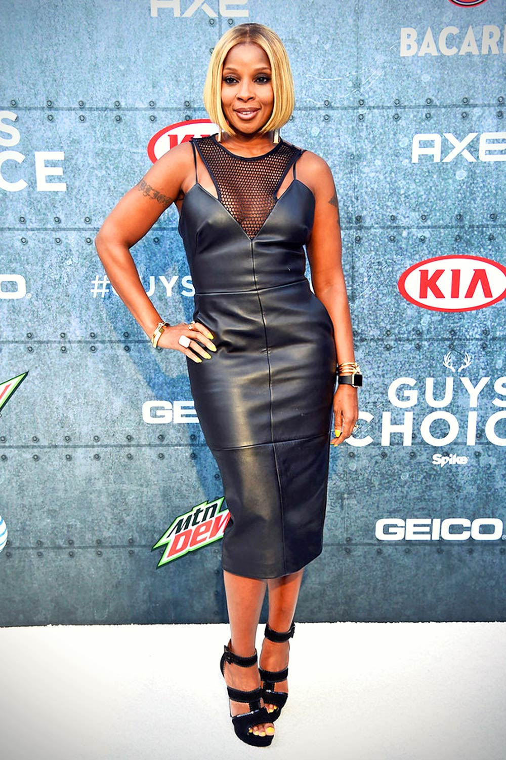 Mary J. Blige arrives at Spike TV's Guys Choice 2015