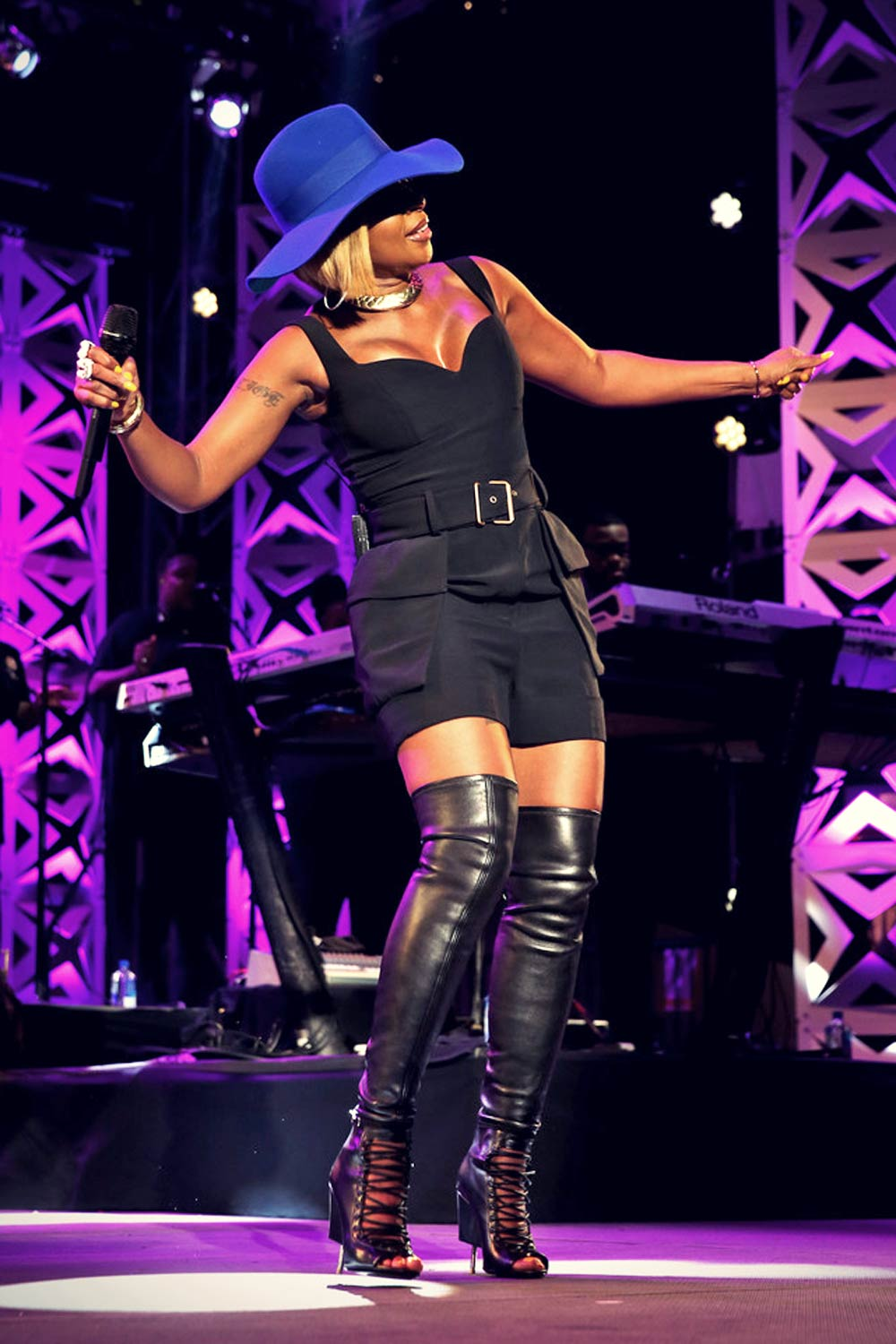 Mary J Blige Performs At Tidal X Mia Nyc Leather