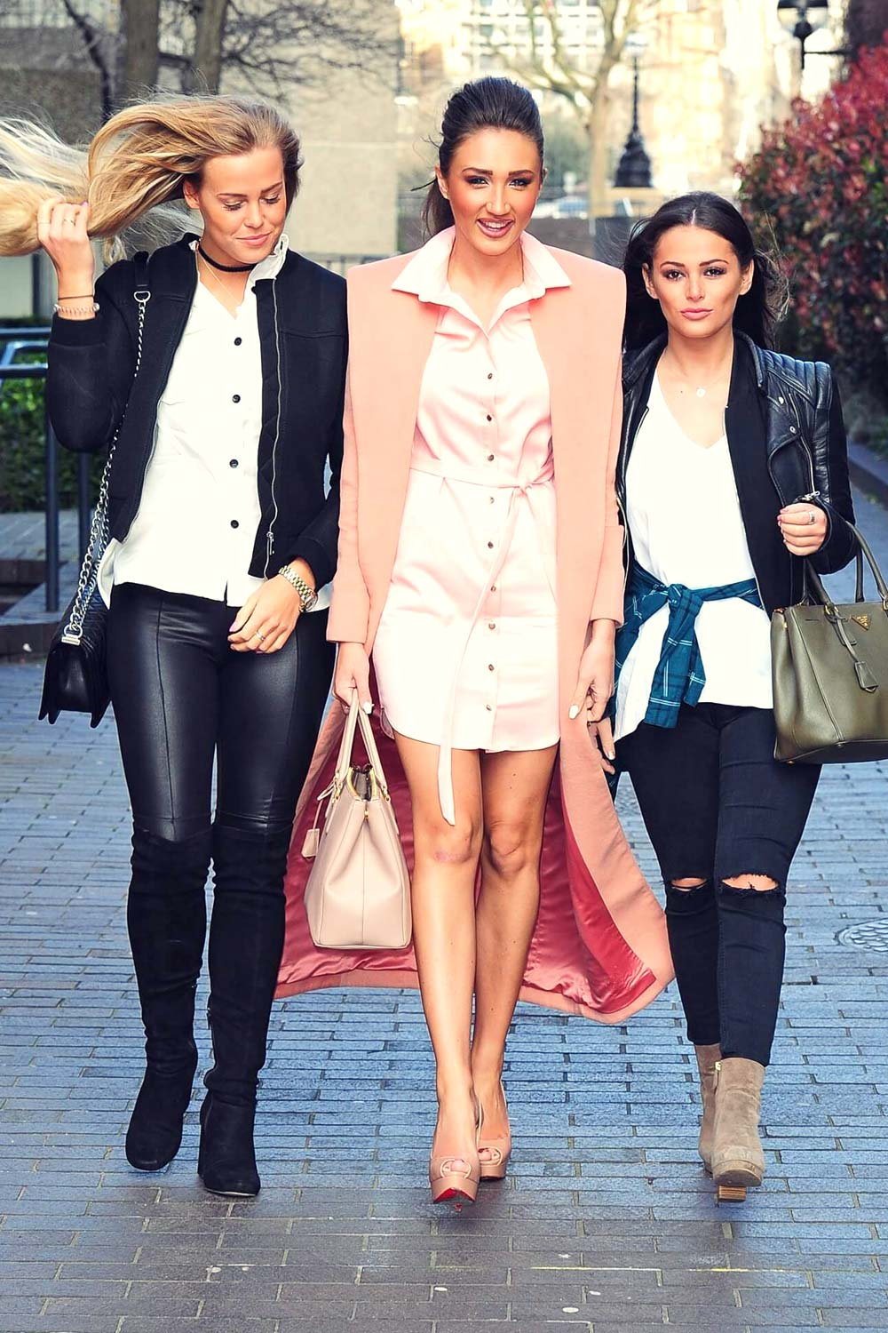 Megan McKenna, Courtney Green & Chloe Meadows at ITV Studios