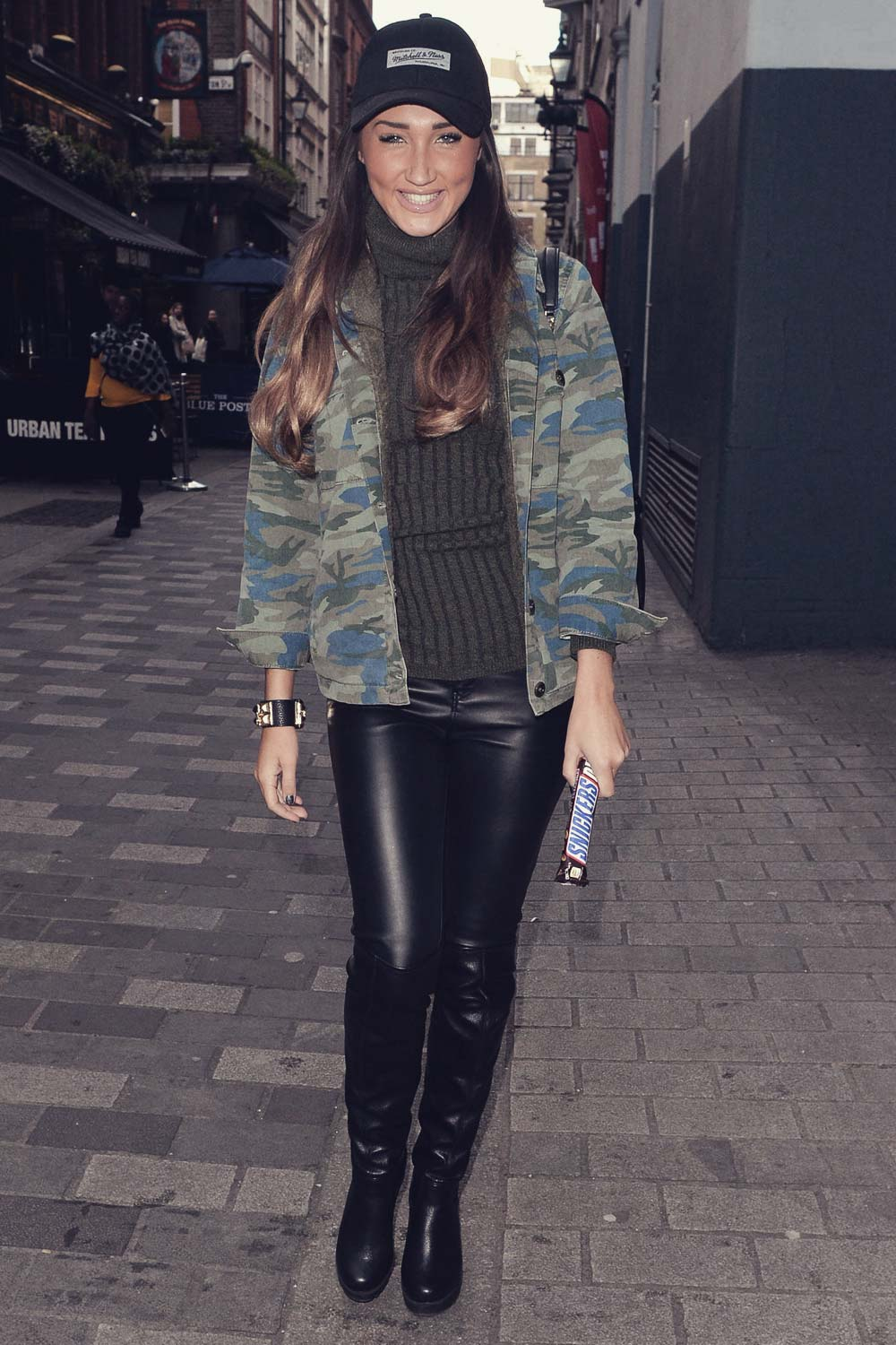 Megan Mckenna Out In London Leather Celebrities