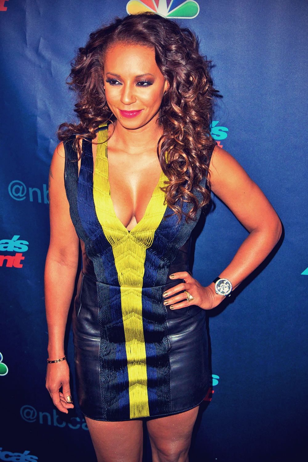 Melanie Brown at America's Got Talent post show red carpet