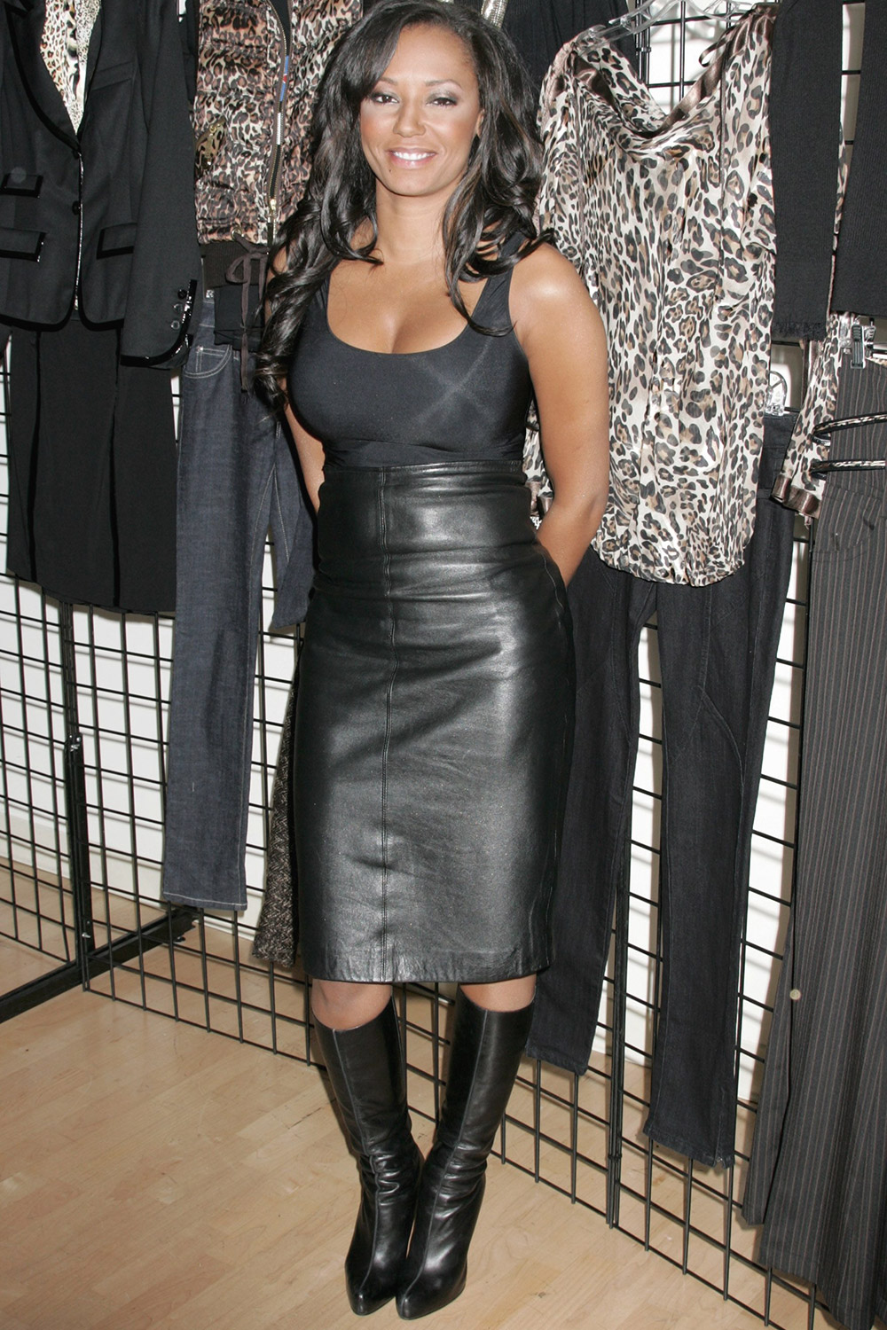 Melanie Brown at Bongo Collection Opening Event