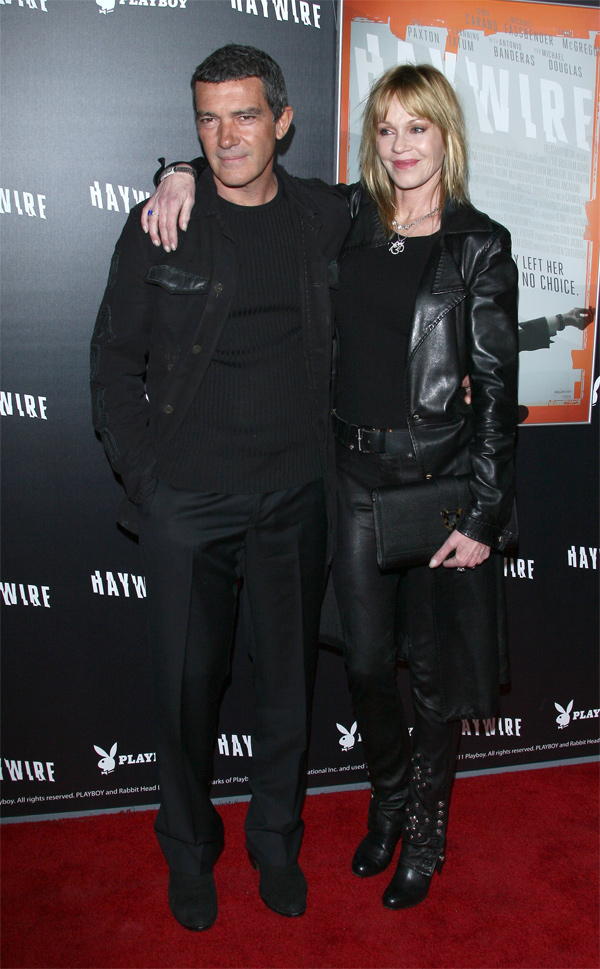 Melanie Griffith arriving with her Husband  Antonio Banderas the Haywire