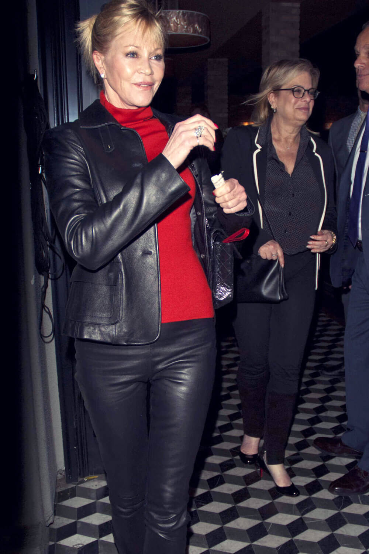 Melanie Griffith Leaving Craig S Restaurant Leather