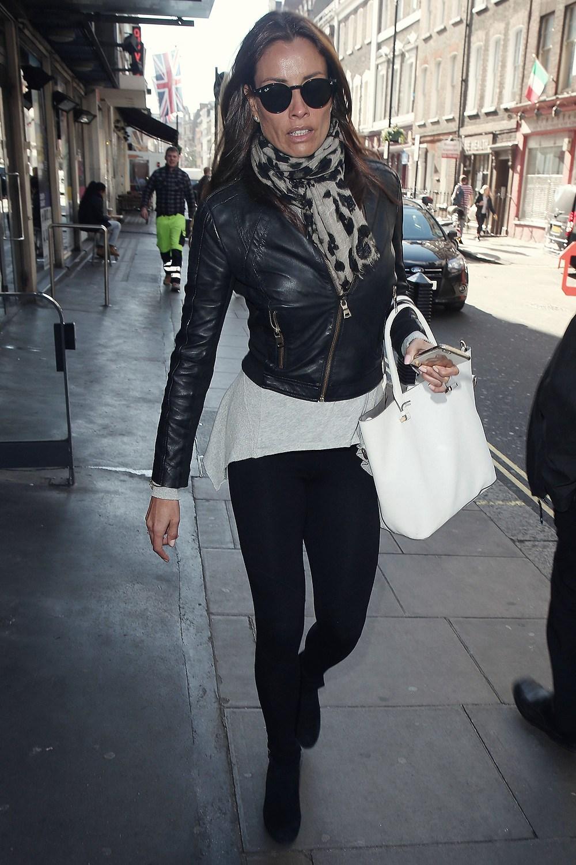 Melanie Sykes out in Soho