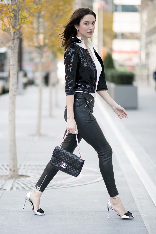 Melissa Bolona Street Style in New York City