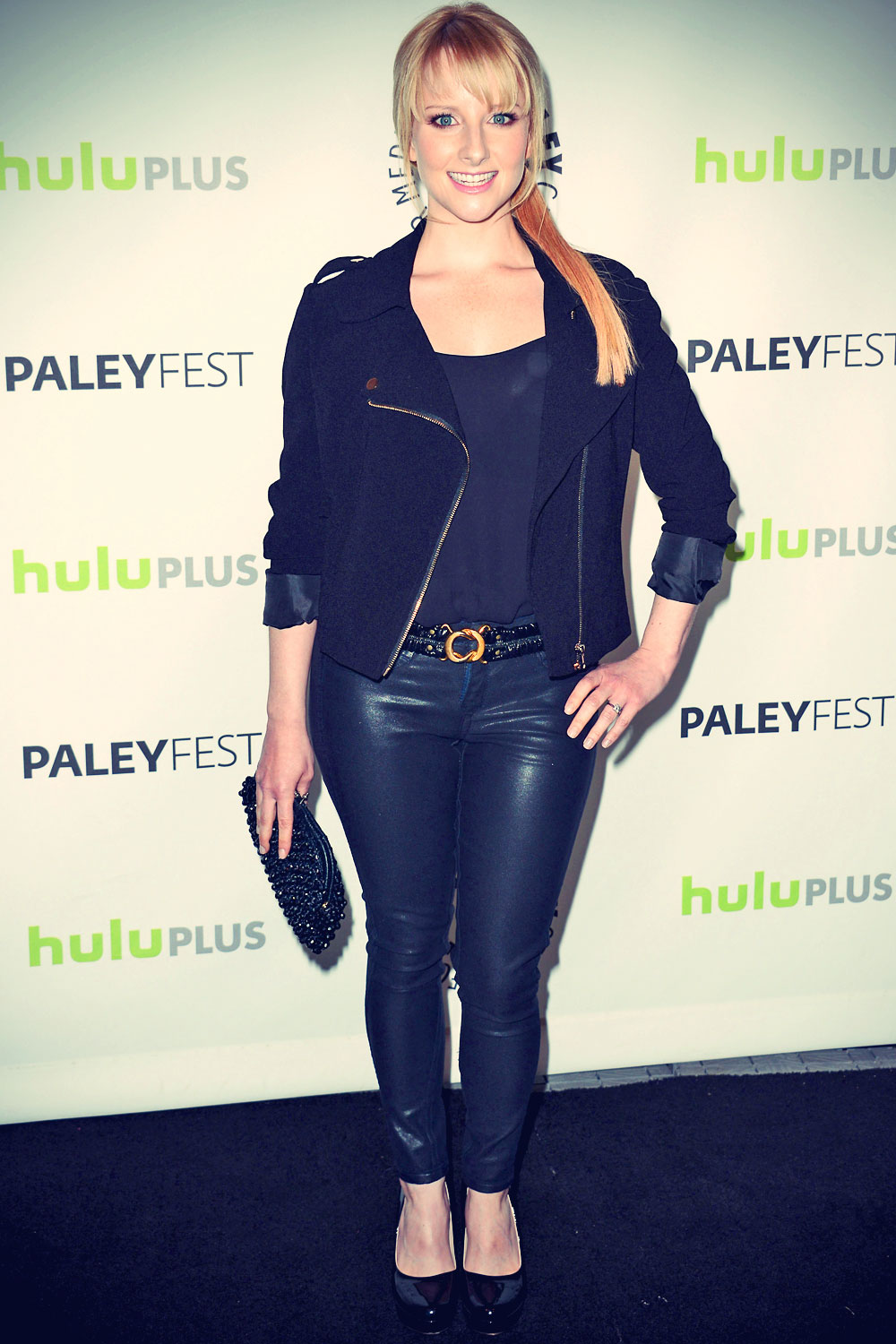 Melissa rauch 30th annual paleyfest the big bang theory screening leather celebrities