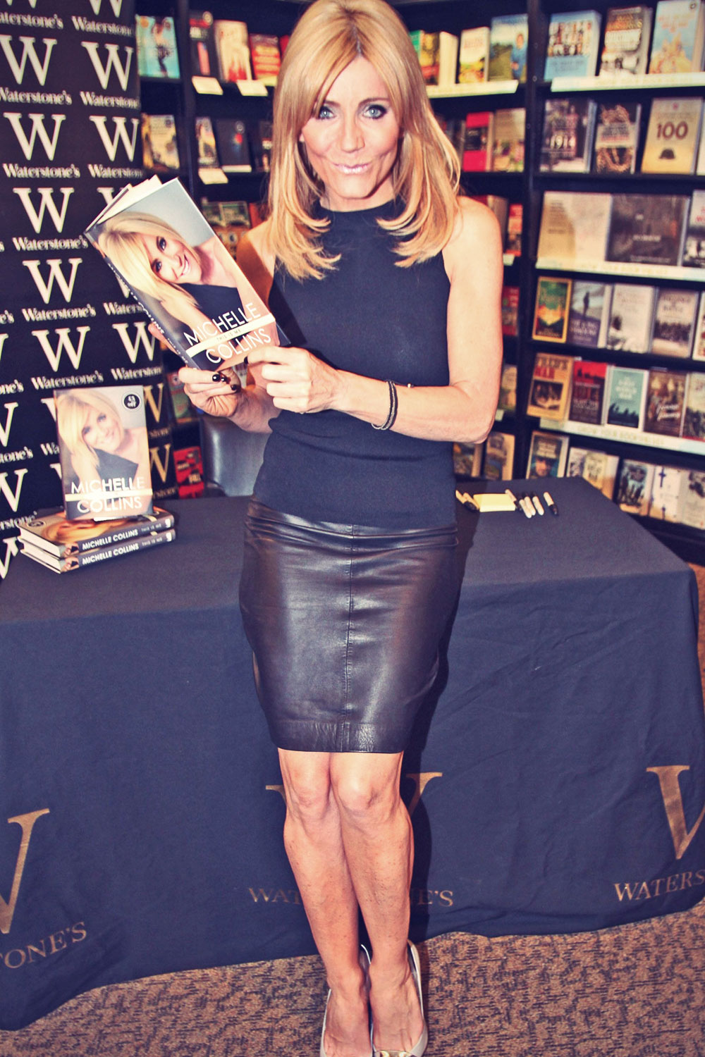 Michelle Collins attends Book Launch Trafford Centre