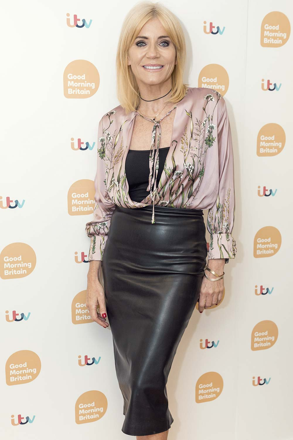 Michelle Collins At Good Morning Britain Show Leather