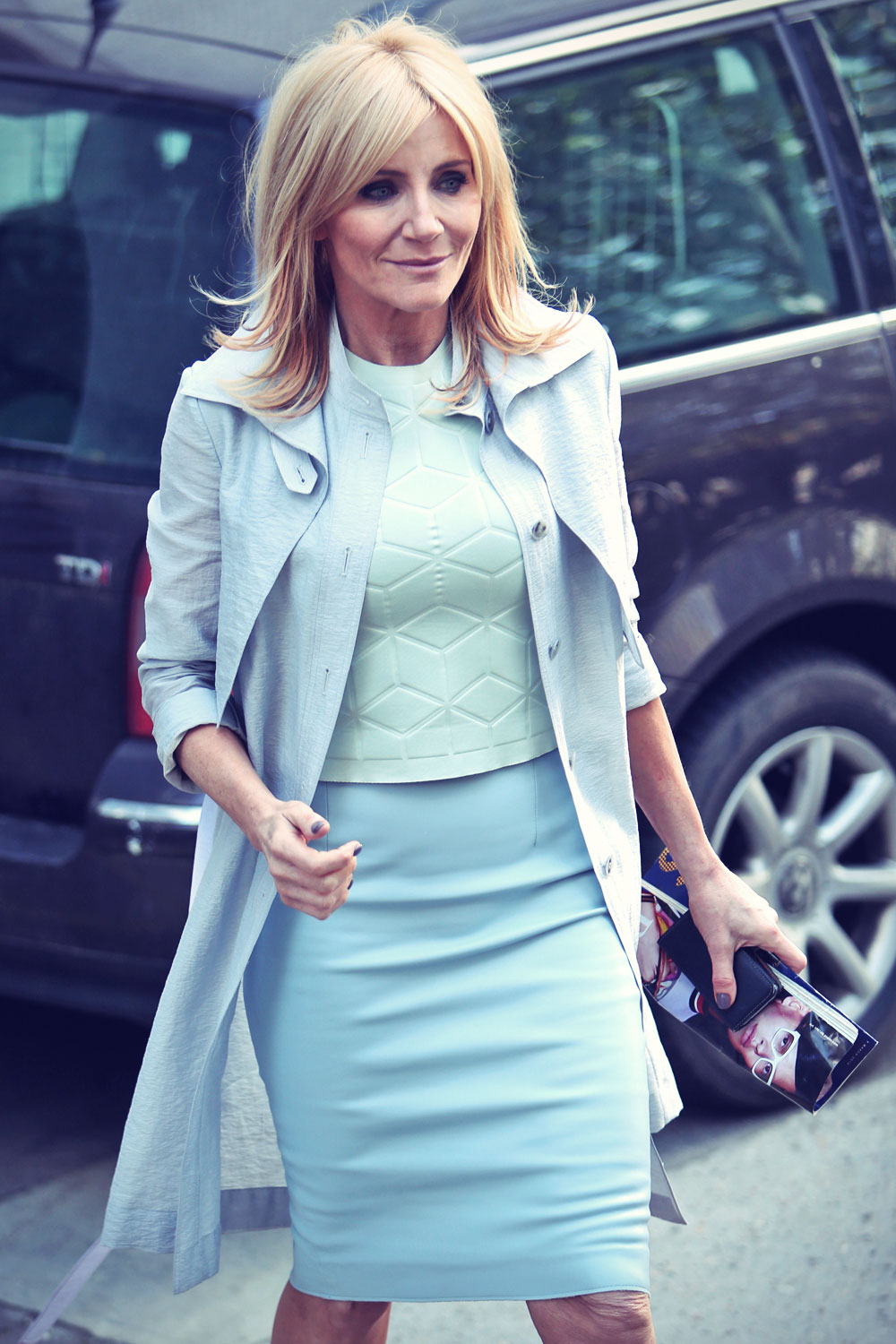 Michelle Collins at itv Studio - Leather Celebrities