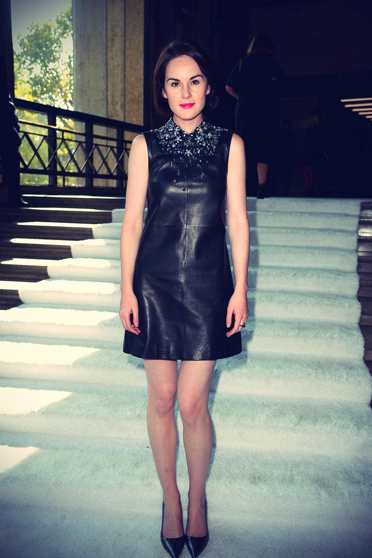 Michelle Dockery at the Miu Miu Show as part of the Paris Fashion Week