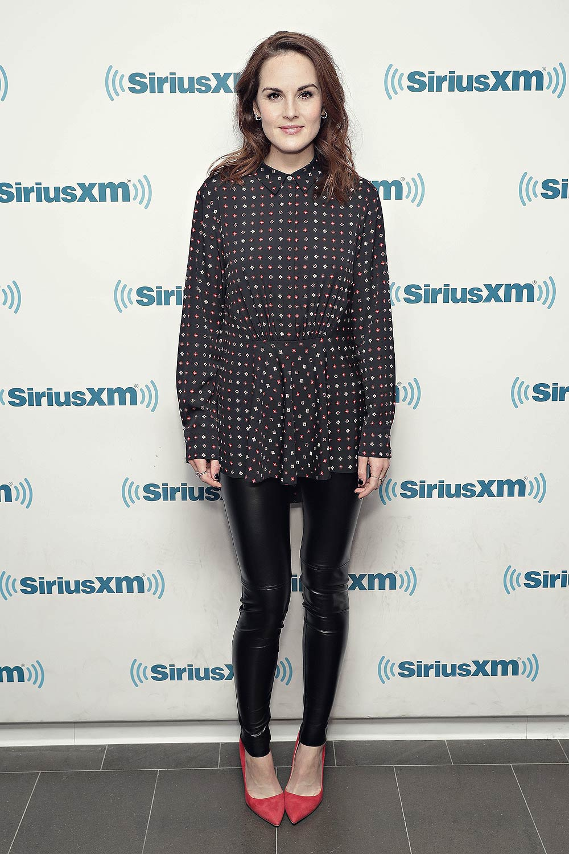 Michelle Dockery visits the SiriusXM Studios